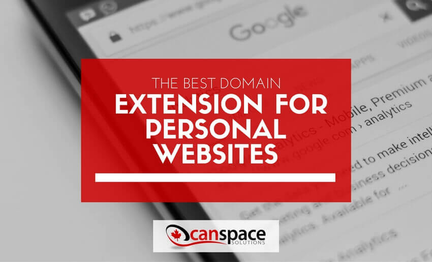 the domain extension you need for your personal wordpress website
